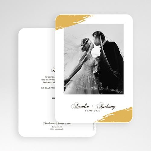 Klassische Dankeskarten Hochzeit  - Brush Gold 58674 thumb
