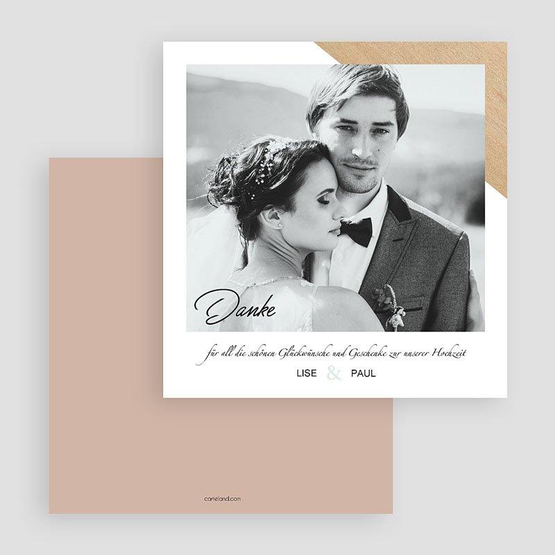 Dankeskarten Hochzeit mit Foto - Holz & Pastell 58683 thumb
