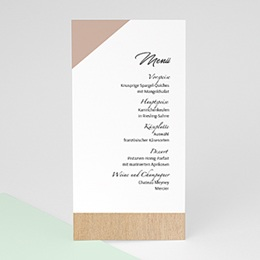 Menükarten Hochzeit Holz & Pastell