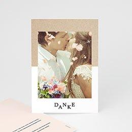 Dankeskarten Hochzeit mit Foto Pastel & Neutral