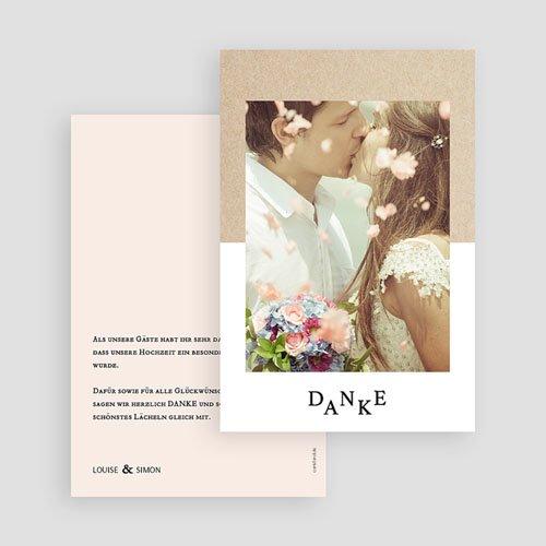 Dankeskarten Hochzeit mit Foto - Pastel & Neutral 58704 thumb