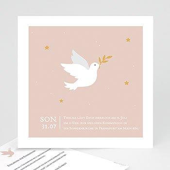 Einladungskarten Kommunion Mädchen Holy Spirit Rose