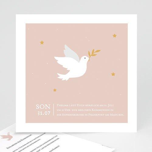 Einladungskarten Kommunion fur Mädchen Holy Spirit Rose
