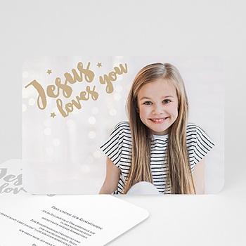 Einladungskarten Kommunion Mädchen Holly Love