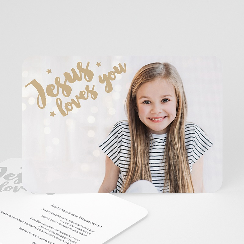 Einladungskarten Kommunion Mädchen - Holly Love 58744 thumb