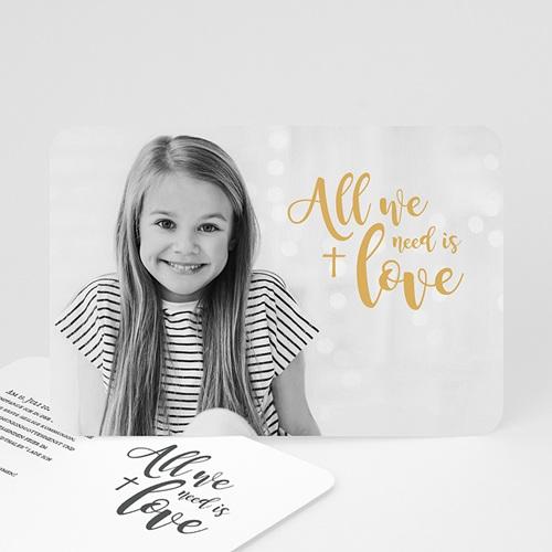 Einladungskarten Kommunion fur Mädchen All you need is Love