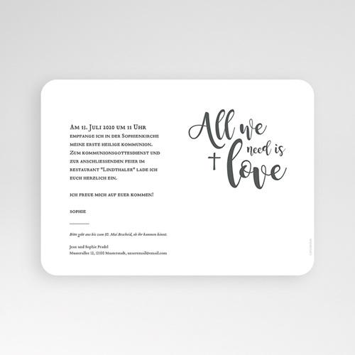 Einladungskarten Kommunion fur Mädchen All you need is Love pas cher