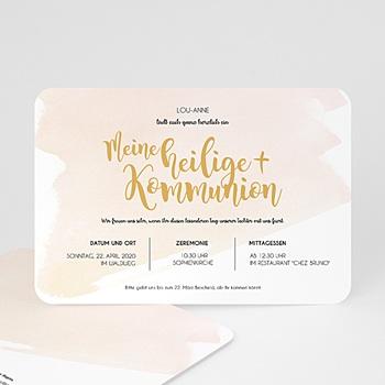 Einladungskarten Kommunion Mädchen - Watercolor Touch - 0