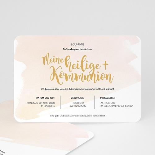Einladungskarten Kommunion Mädchen - Watercolor Touch 58783 thumb