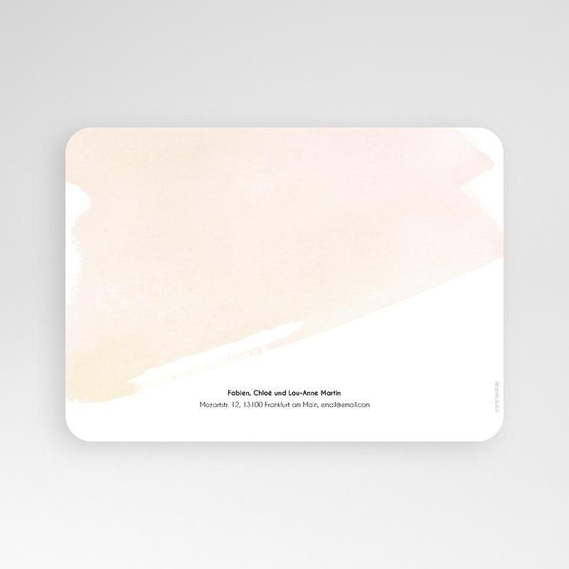 Einladungskarten Kommunion Mädchen Watercolor Touch pas cher