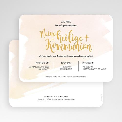 Einladungskarten Kommunion Mädchen - Watercolor Touch 58785 thumb