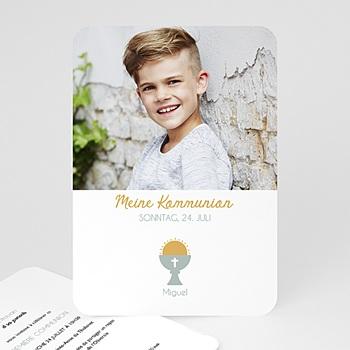 Einladungskarten Kommunion Jungen - Symbolik - 0