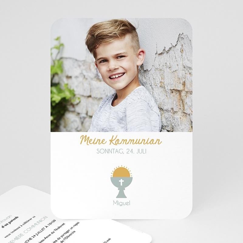 Einladungskarten Kommunion Jungen Symbolik