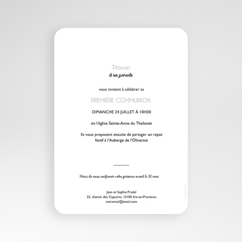 Einladungskarten Kommunion Jungen - Symbolik 58802 thumb
