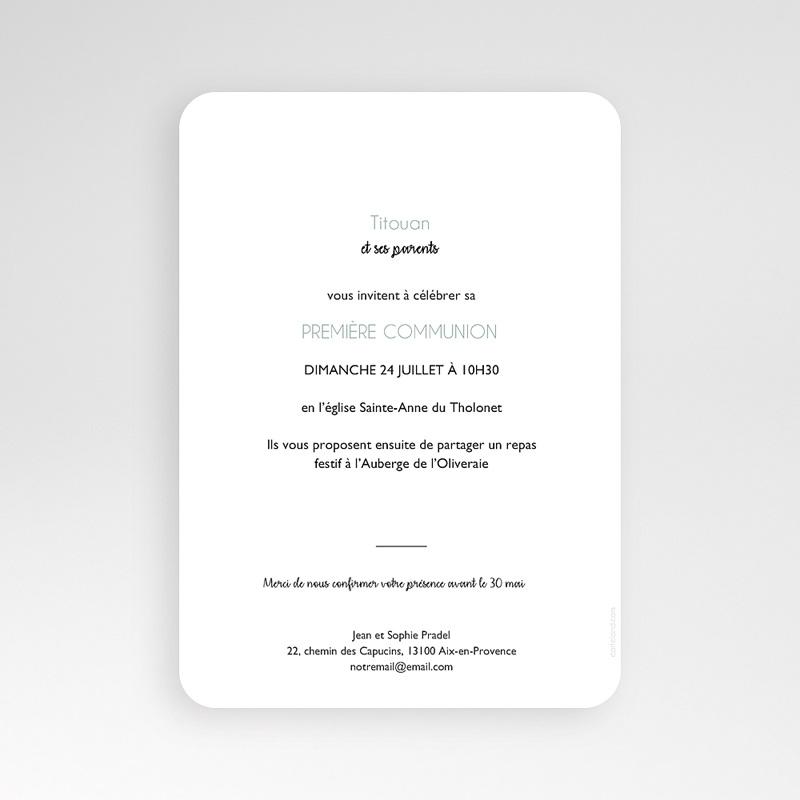 Einladungskarten Kommunion Jungen Symbolik pas cher