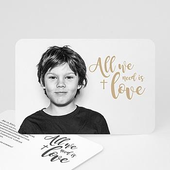 Einladungskarten Kommunion Jungen - Love - 0