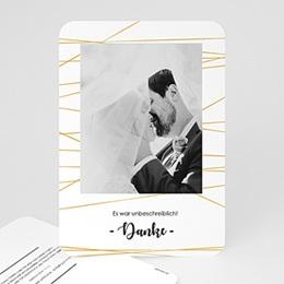Danksagungskarten Hochzeit Minimal Chic