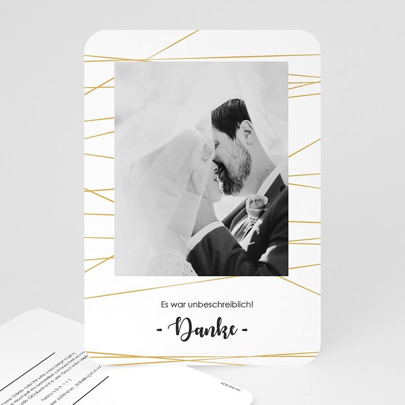Dankeskarten Hochzeit mit Foto Minimal Chic