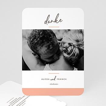 Dankeskarten Hochzeit mit Foto - Color Touch - 0