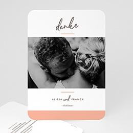 Dankeskarten Hochzeit mit Foto Color Touch
