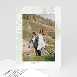 Dankeskarten Hochzeit mit Foto Farngrün