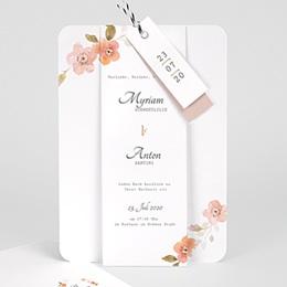 Karten Hochzeit Wildrose