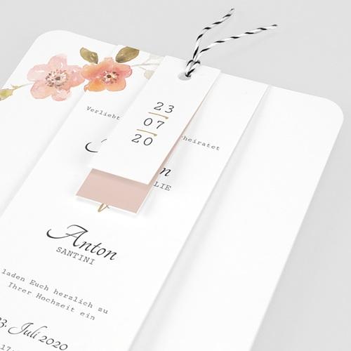 Einladungskarten Landhochzeit - Wildrose 58900 thumb
