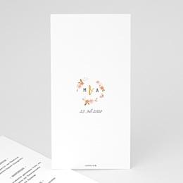 Menükarten Hochzeit  Wildrose