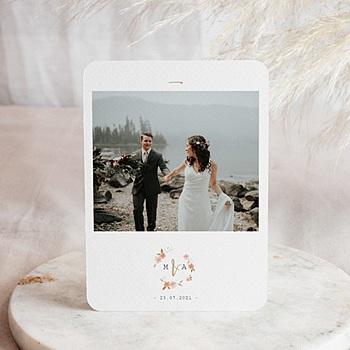 Stilvolle Danksagung Hochzeit Wildrose