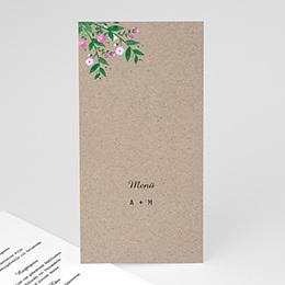 Menükarten Hochzeit Vintage Flower