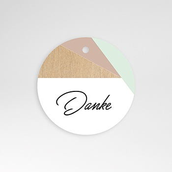 Anhänger Hochzeit - Holz & Pastell - 0