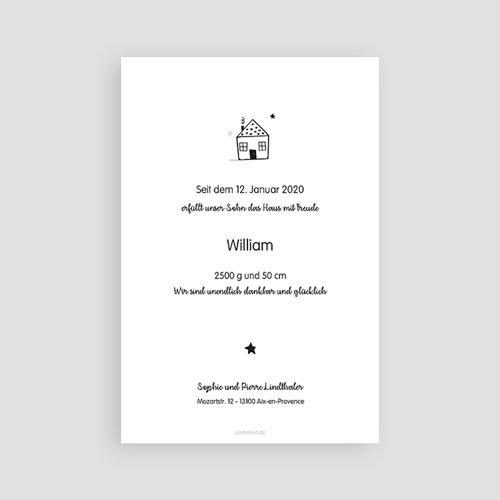 Geburtskarten für Jungen Little Home pas cher
