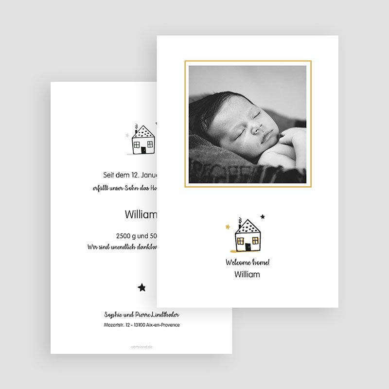 Geburtskarten für Jungen Little Home gratuit