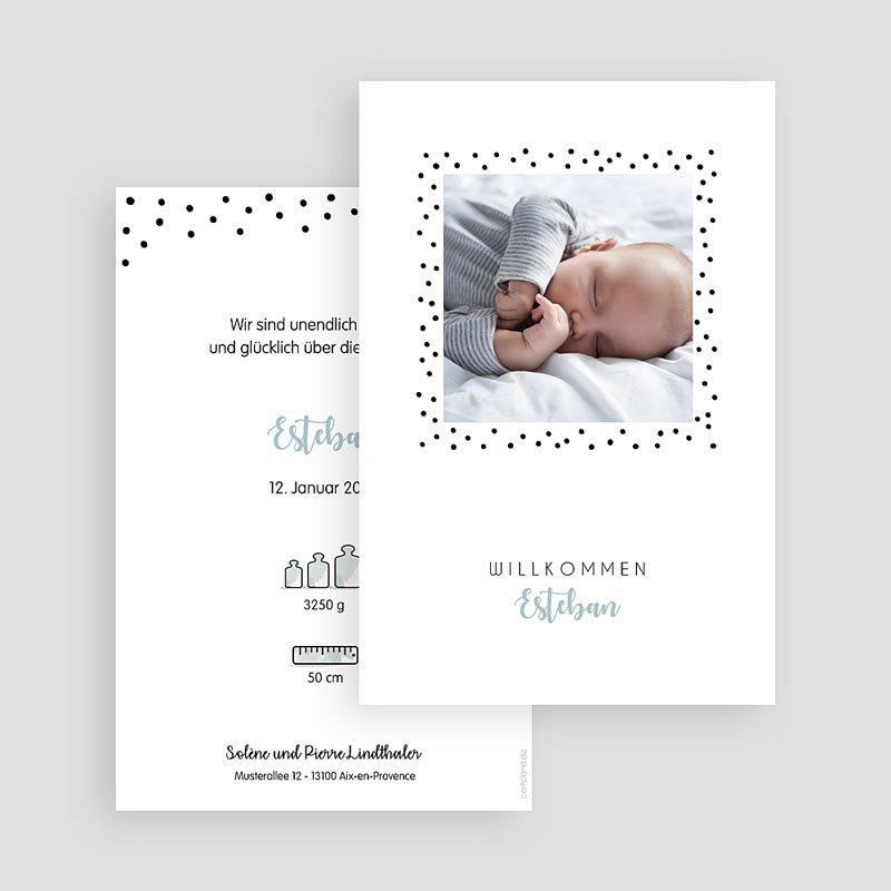 Geburtskarten für Jungen Pünktchen gratuit