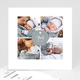Geburtskarten für Jungen Vier Fotos