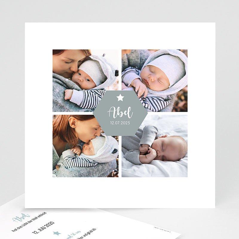 Geburtskarten für Jungen - Vier Fotos 59057 thumb