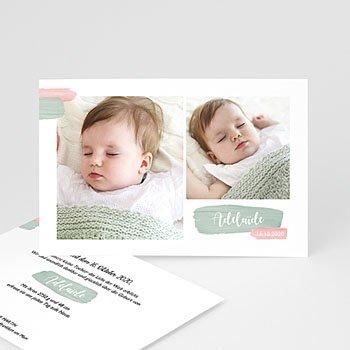 Geburtskarten für Mädchen - Pastell Mädchen - 0
