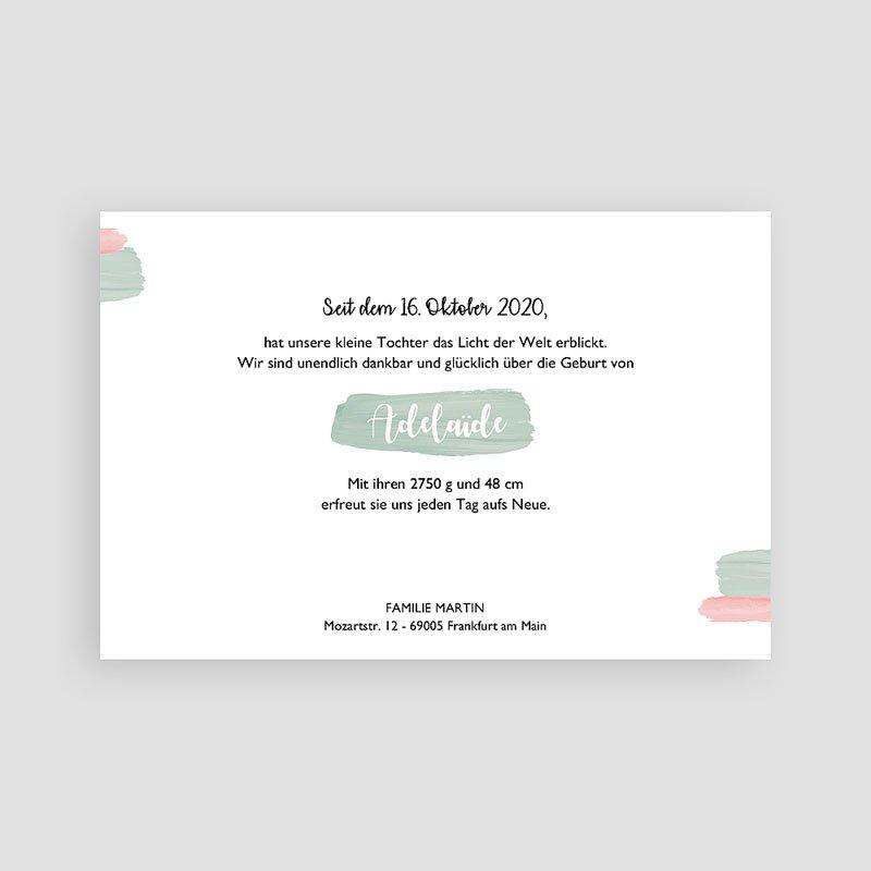 Geburtskarten für Mädchen Pastell Mädchen pas cher