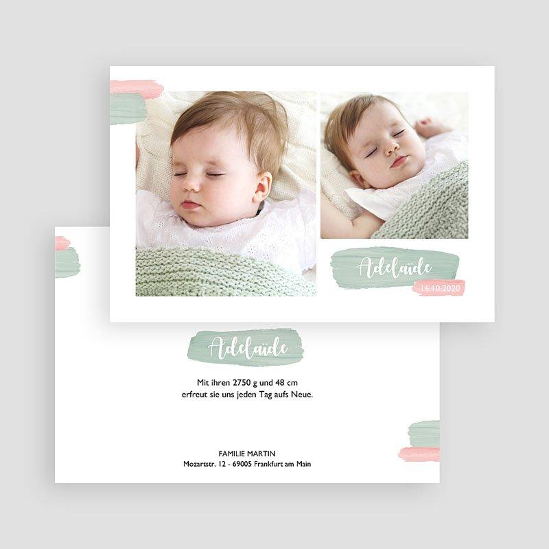 Geburtskarten für Mädchen Pastell Mädchen gratuit