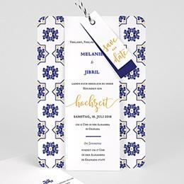 Karten Hochzeit Ottomane Blau