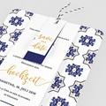 Hochzeitseinladungen Ottomane Blau pas cher