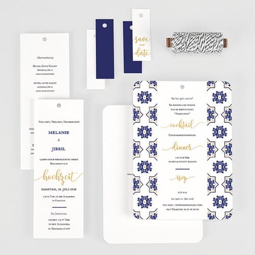 Hochzeitseinladungen Ottomane Blau gratuit