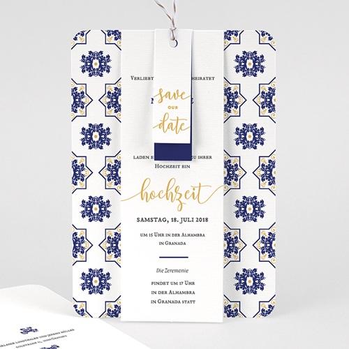 Hochzeitseinladungen Ottomane Blau