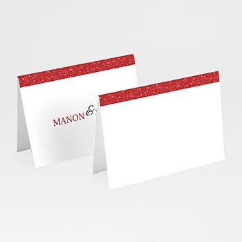 Tischkarten Hochzeit personalisiert - Leporello in Herz - 1