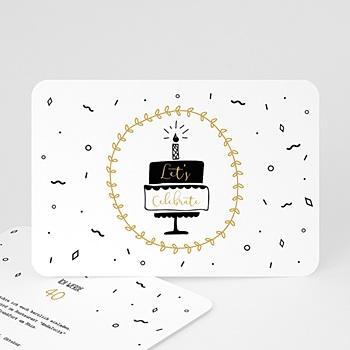 Einladung 40. Geburtstag - Geburtstagstorte - 0