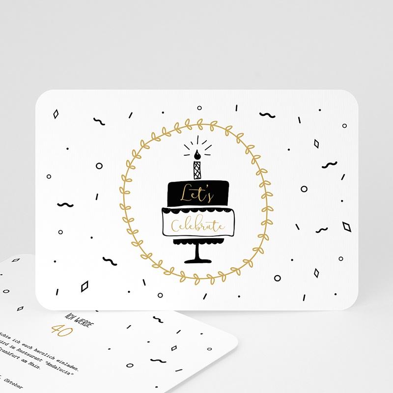 40 Jahre Alt Einladungskarten Geburtstag Geburtstagstorte