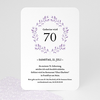 Einladung 50. Geburtstag - Poetisch - 0