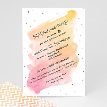 Einladung 30. Geburtstag - Aquarell Rose Quarz - 0