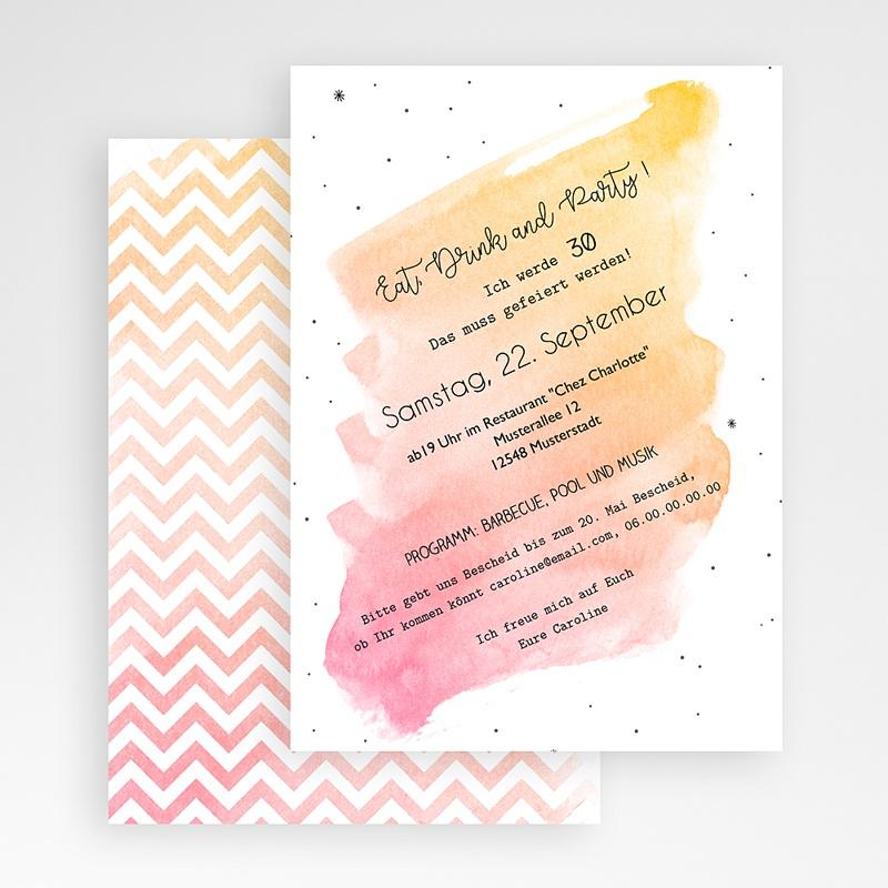 30 Jahre Alt Einladungskarten Geburtstag Aquarell Rose Quarz gratuit