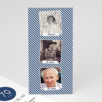 Einladung 70. Geburtstag - Lebensabschnitte - 0